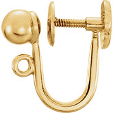 Screw-On Clip Back Earrings with Ball & Ring