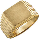 Men's Open Back Rectangle Signet Ring