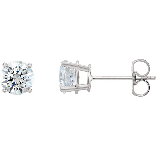 14k White 1 2 Ctw Lab Grown Diamond Stud Earrings
