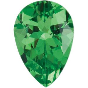 Garnet Pear 0.30 carat Green Photo
