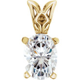 Charles & Colvard Moissanite® Scroll Setting® Pendant