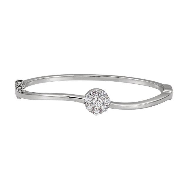 Sterling Silver Hinged Bangle Bracelet