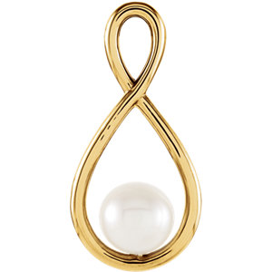 14K Yellow Freshwater Cultured Pearl Pendant