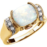 Opal, Pink Tourmaline & Diamond Accented Ring
