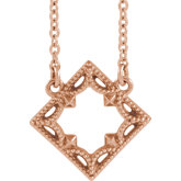Vintage-Inspired Geometric Necklace or Center