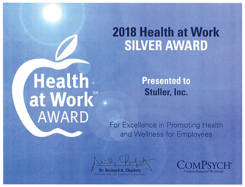 2018 Health at work Award