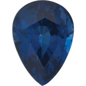 Sapphire Pear 0.30 carat Blue Photo
