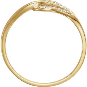 14K Yellow .08 CTW Diamond Ring