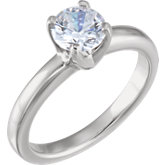 4-Prong Comfort-Fit Solstice Solitaire® Engagement Ring