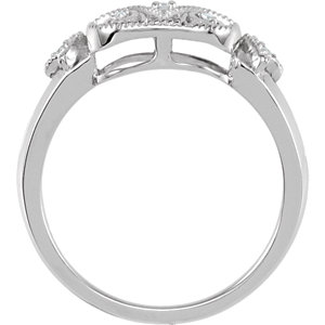 Sterling Silver .05 CTW Diamond Ring Size 6