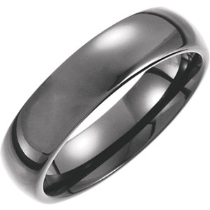 Tungsten 6mm Domed Band Size 7