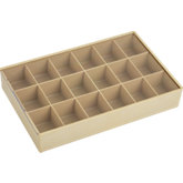 18 Compartment Tray with Slide Lid