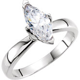 4-Prong V-End Tulipset® Solitaire Engagement Ring