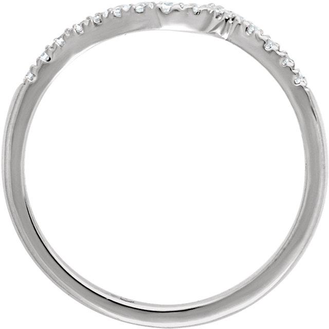 14K White 1/6 CTW Diamond Band