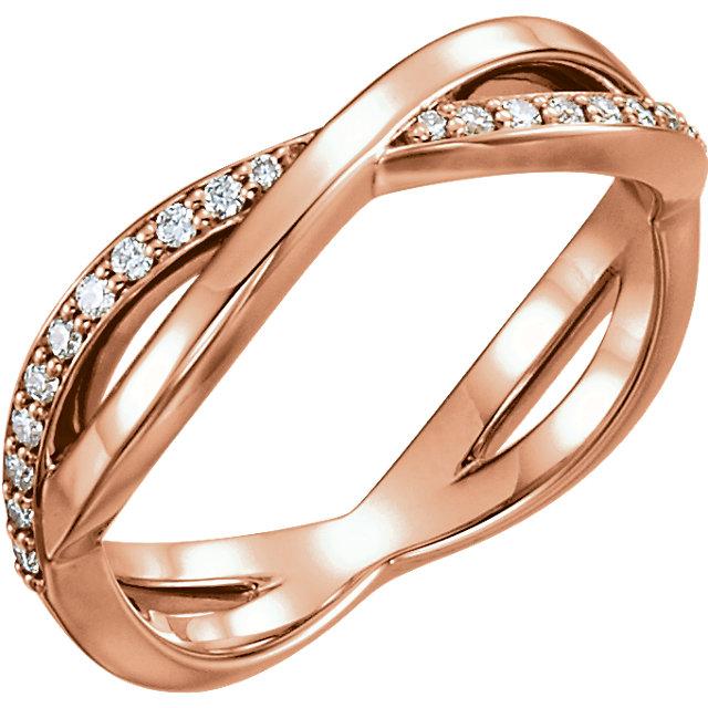 14K Rose 1/5 CTW  Diamond Infinity-Inspired Ring
