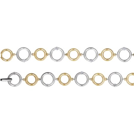 14K White & Yellow 1/3 CTW Diamond Bracelet