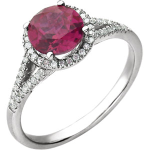 1/5 Carat TW Diamond & Birthstone Ring