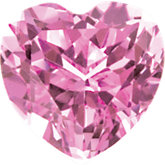 Heart Imitation Pink Tourmaline