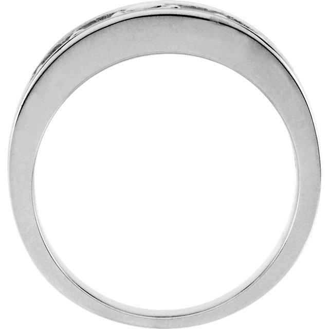 14K White 8 mm Ladies Claddagh Band
