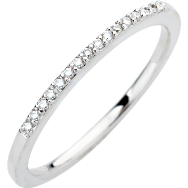 14K White .08 CTW Diamond Band