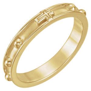 Fashion Rings , Platinum Rosary Ring Size 8