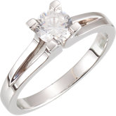 Split Shank Solitaire Engagement Ring