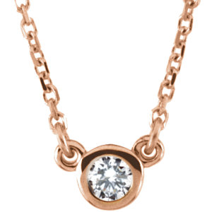 Necklace / Chain , Bezel Set Birthstone Necklace