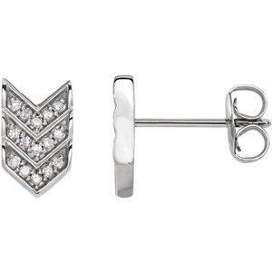 14K White 1/10 CTW Diamond Triple