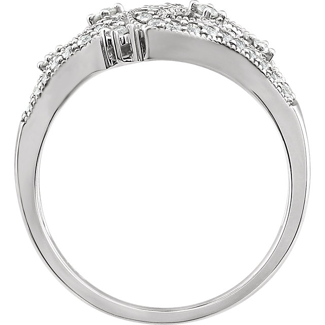 14K White 3/8 CTW Diamond Ring