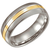 Stainless Steel & 14K Yellow Band