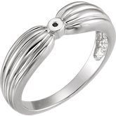 Bow Design Solitaire Engagement Ring or Band