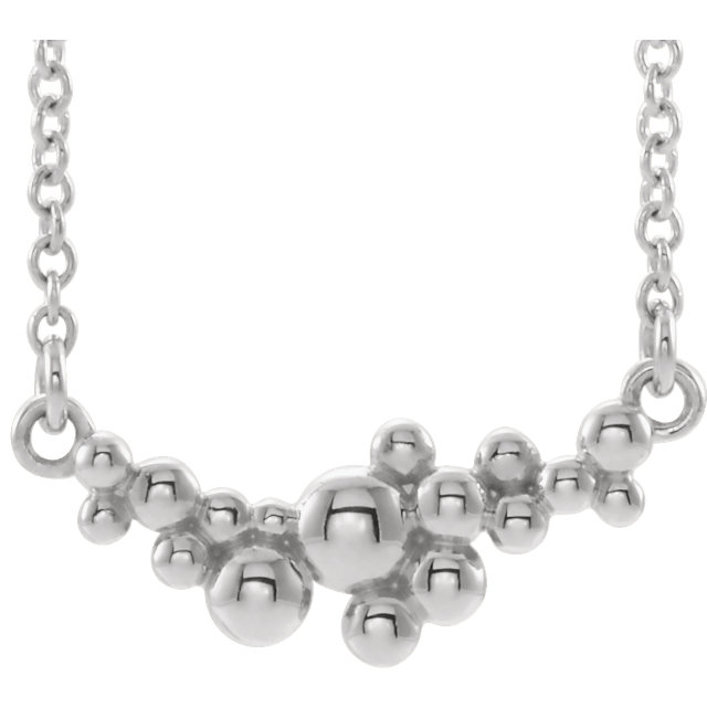 Sterling Silver Scattered Bead 16