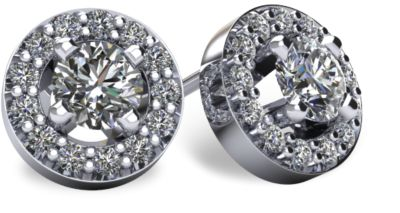 Diamond Stud Earrings - Halo