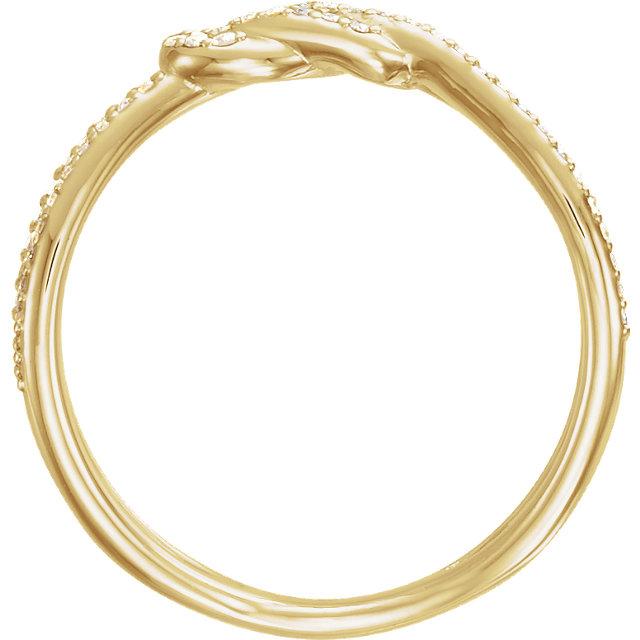 14K Yellow 1/5 CTW Diamond Knot Ring