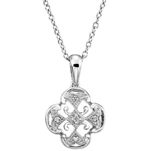 Sterling Silver .03 CTW Diamond 18