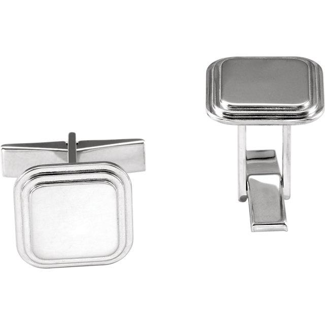 Posh Mommy® Engravable Square Cuff Links