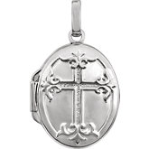 Cross Oval Locket