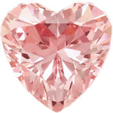Heart SWAROVSKI GEMSTONES™ Lab Created Morganite Pink Cubic Zirconia