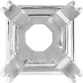 Square 4-Prong Double Claw Wire Basket Setting