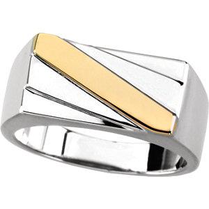 Fashion Rings , Platinum Men's Ring