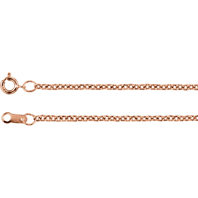 14K Rose Gold Filled 1.5 mm Solid Cable 16
