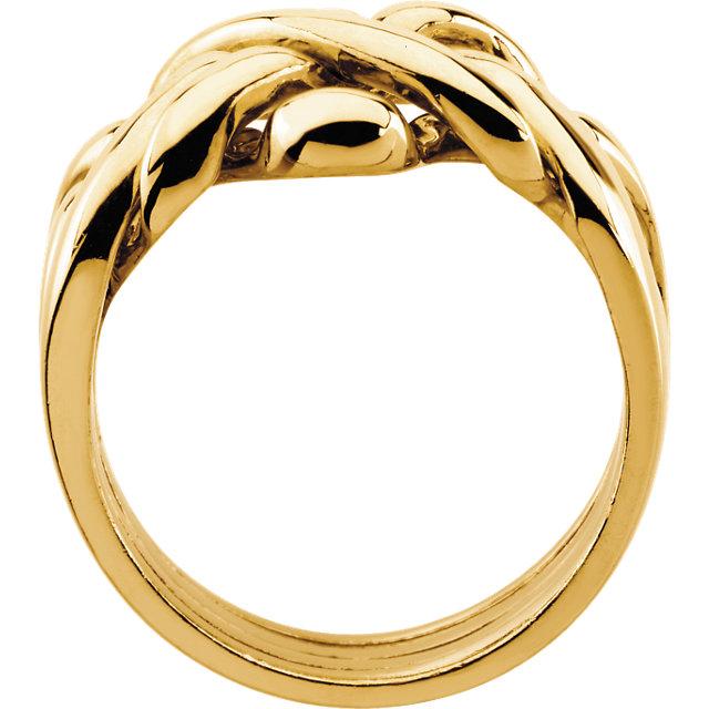 14K Yellow Ladies Puzzle Ring