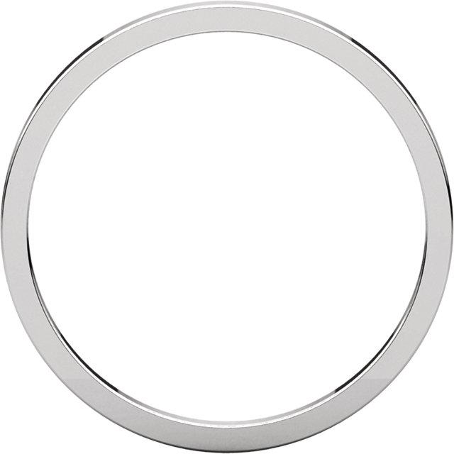 14K White 1.5 mm Flat Band Size 7