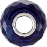 Kera® Faceted Sapphire-Colored Glass Bead