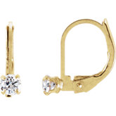 Youth Cubic Zirconia Lever Back Earrings