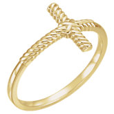 Sideways Cross Rope Ring