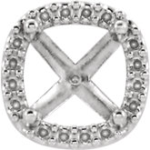 Cushion 4-Prong Halo-Style Shank Setting