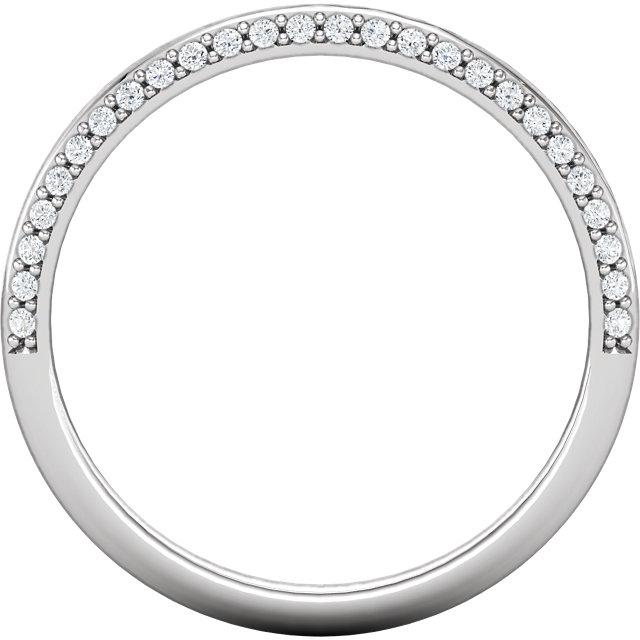 14K White 1/5 CTW Diamond Band