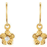 Youth Cubic Zirconia  Daisy Earrings
