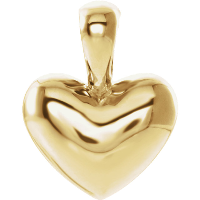 14K Yellow Heart Youth Pendant